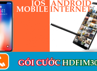 Gói cước HDFIM30 của nhà mạng mobifone