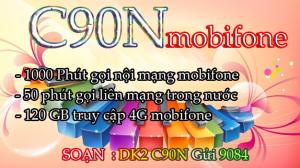 Đăng ký gói cước C90N mobifone