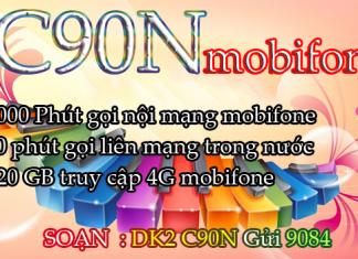 Cách đăng ký gói cước C90N mobifone