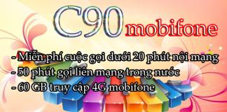 Cách đăng ký gói cước C90 mobifone