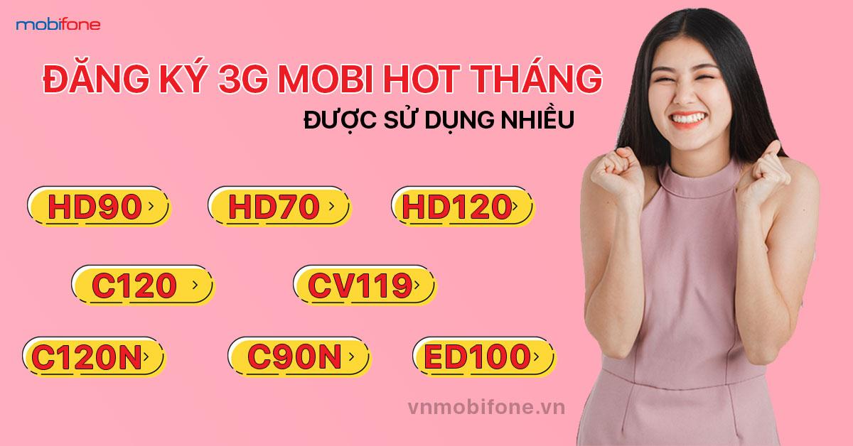 Các gói 3G MobiFone HOT trong tháng