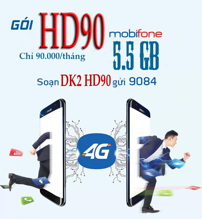 Gói cước HD90 mobifone