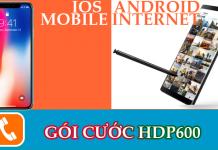 Gói cước HDP600 của nhà mạng mobifone