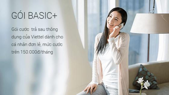 Gói cước Basic+ là gói cước trả sau thông dụng của Viettel dành cho cá nhân.