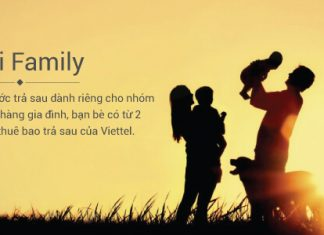 Gói cước trả sau FAMILY dành cho gia đình của Viettel