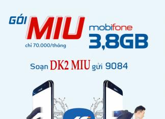 Gói cước MIU của nhà mạng mobifone