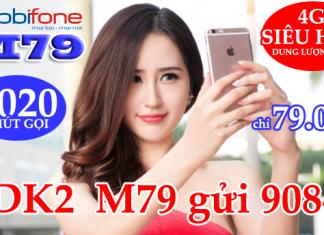 Cú pháp đăng ký gói cước M79 Mobifone