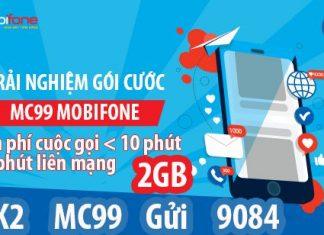 Đăng ký gói cước MC99 mobifone nhiều ưu đãi vượt trội