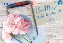 Gói cước 8 tháng 3 dành tặng cho chị em phụ nữ