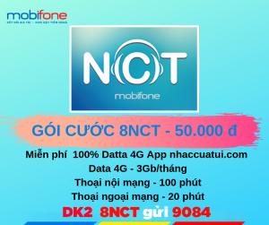 Đăng ký gói cước 8NCT truy cập miễn phí nhạc cua