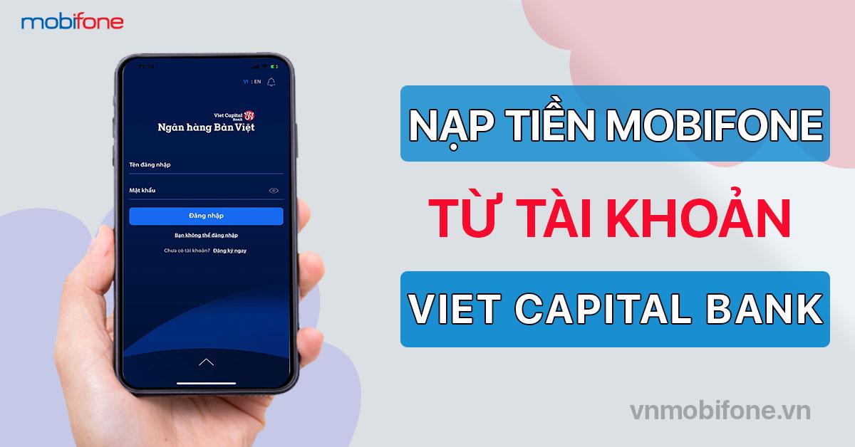 Nạp tiền điện thoại mobi qua ngân hàng Bản Việt