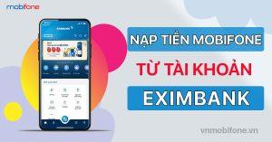 Nạp tiền điện thoại Mobi qua Eximbank